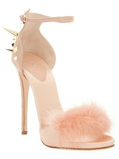 Frou frou and studs. Peach
