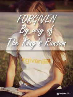 """Look and find Jesus in the Old Testament through prophecy, types, pictures and foreshadows! Check out our latest Blog post """"We See Jesus"""".  forgiven by a ransom 19 Upstream Christian T shirts.jpg"""