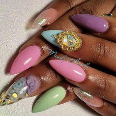Pastel Princess Mindy Hardy Nails