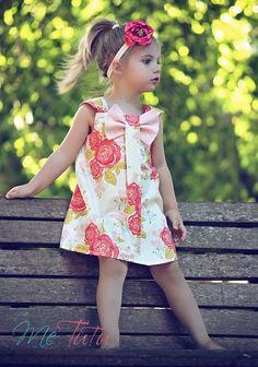 Chic Audrey Partido gasto do vintage do vestido da menina de flor-de-rosa