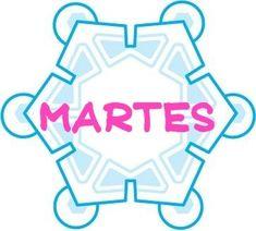 Menta Más Chocolate - RECURSOS y ACTIVIDADES PARA EDUCACIÓN INFANTIL: Carteles de LOS DIAS DE LA SEMANA (Copos de nieve)