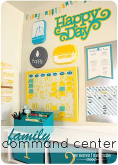 Family Command Center - turn an un-used nook into a family organization central