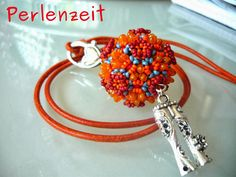 "Pattern/Tutorial ""Rizo Virus"" by Perlenzeit - Beaded Bead with Rizo Beads"