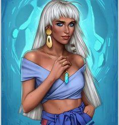 Princesas da Disney Versão Modernas 2018 - Disney Princesses As Modern Girls - Kida Kida Disney, Disney Fan Art, Disney Girls, Disney Love, Disney Princesses, Kida Atlantis, Disney Drawings, Cartoon Drawings, Disney Sketches
