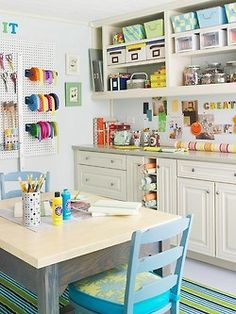 I want a table like this for my craft room. Or something that can handle the abuse of glue guns, glitter, and paint.