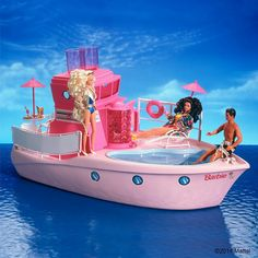Barbie yacht... I also had this. It made drinks!