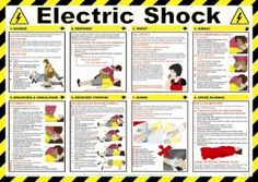 Health and safety work guide Electric Shock Treatment guide Poster Ref Health And Safety Poster, Safety Posters, Safety Slogans, First Aid Poster, First Aid Cpr, Shock Treatment, Emergency First Aid, Electrical Safety, Electric Shock