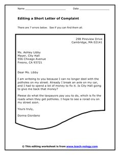 Writing Complaint Letter  The Tone Of Complaint Letters Should