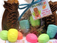 20 Luau Tiki Party Favor Soap Ses for Tropical by SweetbodySoaps