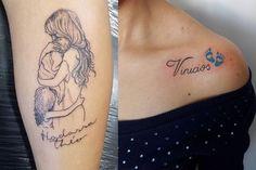 Tatuagem com nome de filhos: inspire-se nos melhores modelos de tattoos! – All I… Kids Name Tattoo: Get inspired by the best tattoo designs! Mommy Tattoos, Mutterschaft Tattoos, Mom Baby Tattoo, Mother And Baby Tattoo, Mama Tattoo, Motherhood Tattoos, Tattoo For Son, Baby Tattoos, Tattoos For Daughters