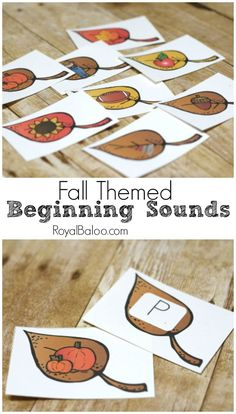Fall Beginning Sounds Printable Leaves. Free printables to practice isolating…