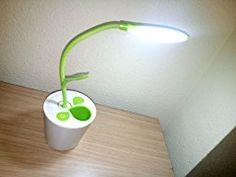 Lámpara de Escritorio, LED Lámparas USB 5V 1W Control Táctil Lámparas de Mesa para Niños Diseño planta