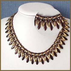 Diy Jewelry Necklace, Bead Jewellery, Seed Bead Jewelry, Boho Jewelry, Necklace Set, Handmade Jewelry, Beaded Necklace, Jewelry Design, Fashion Jewelry