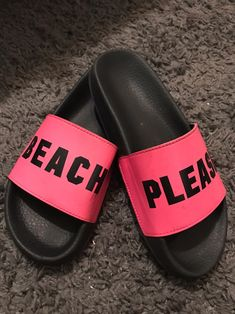 Worn more than 5 times but still in Great condition. These are comfortable & CUTE . Selling these because I'm getting rid of shoes I no longer wear . Brand : PINK . Size : M (fits like a 7/7.5) Pink Sandals, Women's Shoes Sandals, Heels, Vs Pink Slides, Mississippi, Me Too Shoes, Victoria Secret Pink, Times
