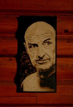 John Locke , LOST art - woodburned home decoration