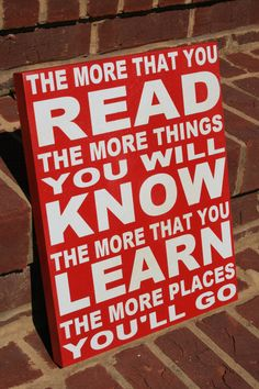 The more that you read....