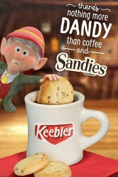 "Light and buttery Keebler Pecan Sandies Shortbread cookies and a hot cup of coffee can turn any free time into a relaxing moment of ""me time""!"