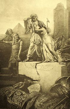File:Mihály Zichy - Illustration to Imre Madách's The Tragedy of Man - In Egypt (Scene is a Pharoah, Lucifer his Vizier, Eve is the wife of a slave Old Egypt, Ancient Egypt, Egyptian Art, Religious Art, Art World, American Art, Printmaking, Mythology, Street Art