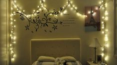 Here is Best Christmas Bedroom Lights Decorations Ideas for Teen Photo Collections at Bedroom Accessories Catalogue. More Picture Best Christmas Bedroom Lights can you found at her Christmas Lights In Room, Christmas Bedroom, Decorating With Christmas Lights, Xmas Lights, Holiday Lights, Christmas Decor, Christmas Tree, Bedroom Lighting, Bedroom Decor