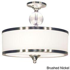 Z-Lite 3-light Semi Flush Mount (Brushed Nickel), Silver (Chrome)