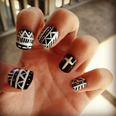 Easy DIY nail design. I love these kind of nails!