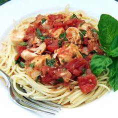 Basil Chicken over Angel Hair - Tried this tonight, it tastes amazing!
