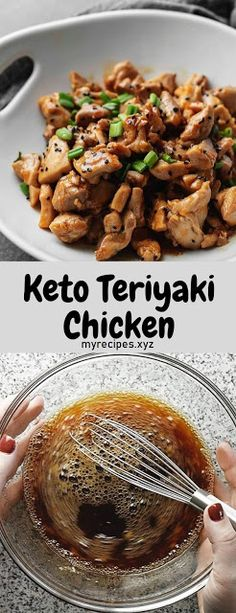 Another easy low carb dinner that can be made in under 30 minutes! This keto teriyaki chicken is full of flavor, will cure that keto Chinese food craving, and perfect served with cauliflower fried rice. cravings dinner The Best Keto Teriyaki Chicken Side Dishes For Chicken, Keto Side Dishes, Low Carb Dinner Recipes, Keto Recipes, Healthy Recipes, Keto Dinner, Cooker Recipes, Easy Recipes, Teriyaki Chicken