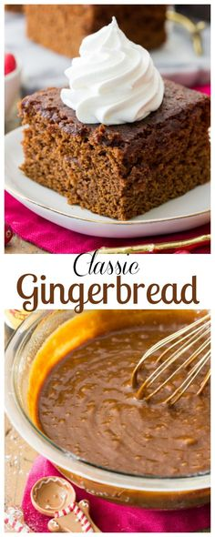 A Classic Gingerbread Recipe! via Sugar Spun. Holiday Baking, Christmas Desserts, Christmas Baking, Winter Desserts, Italian Christmas, Christmas Foods, Holiday Foods, Christmas Cookies, Baking Recipes