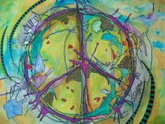 Artistic Psychedelic  Trippy Hippie Peace Peace Sign Wallpaper