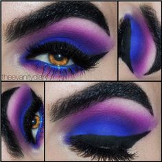 Super gorgeous color combo! Theevanitydiary looks amazing in Sugarpill Poison Plum and Royal Sugar eyeshadows. Love the bottom lashes! #eyes #eyeshadow #glitter #eye #makeup