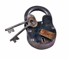 Small Cast Iron Lever Lock Padlock with Keys Pirate Chest - Small Antique Locks - Amazon.com