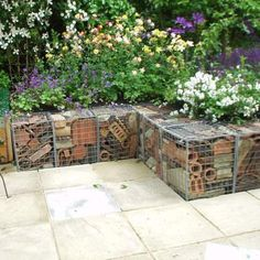 Gabions. Like the combination of filling in these...