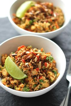 Thai Quinoa Tofu Bowl | via Channeling Contessa  Tried on 9-17-13 - one of the best dishes we've made.  A keeper
