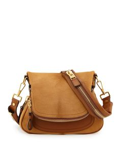 Tom Ford Jennifer Medium Combo Crossbody Bag, Tan - Neiman Marcus