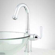 Steigman Single-Hole Vessel Faucet - Overflow - Chrome