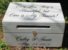 Large Personalized Engraved Wood Wedding Card Box by braggingbags ...