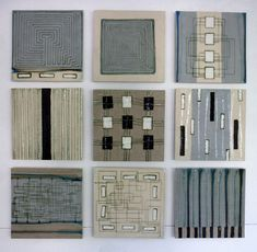 She loves that these amazing Clare Crouchman ceramic pieces look like hand-knotted rugs Ceramic Wall Art, Ceramic Clay, Ceramic Painting, Tile Art, Ceramic Pottery, Ceramic Plates, Ceramic Workshop, Elements And Principles, Art Graphique