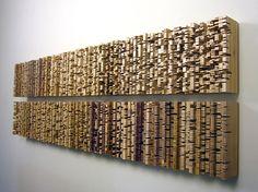 Jessica Drenk, Procession 5 poplar x x Wooden Wall Art, Wood Wall, Wood Sculpture, Wall Sculptures, Wood Mosaic, Wood Scraps, Contemporary Sculpture, Creative Walls, Diy Wall