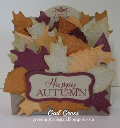 Happy Autumn and Perfect Fit - Thanksgiving stamp sets - Greetings from Gail: PAPER PLAYERS CHALLENGE #161 - FALLING FOR YOU