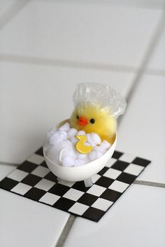 Not a real animal but way too cute!!  Egg Crafts by Chez Larsson, via Flickr