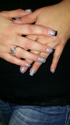 Purple and Silver Iridescent Glitter Nails! Probably my favorite nails ever!