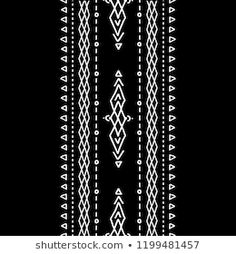 Set of hand drawn vector seamless brushes in boho and esoteric style. Collection of vector borders with arrows for design, for tattoo and prints in bohemian style. Embroidery Suits Design, Embroidery Motifs, Hand Embroidery Designs, Embroidery On Clothes, Shirt Embroidery, Motif Design, Pattern Design, Pattern Art, Print Patterns