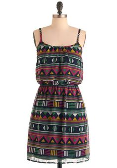 Play That Funky Mosaic Dress, #ModCloth