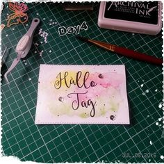 Day4 #thedailymarker30day by @kathyrac  Good morning! Today, I just say hello. ♡♡♡ Guten Morgen! Heute sage ich einfach mal Hallo. ☆☆☆ #stempelnmachtspaß #stempeln #stamping #card #kartenbasteln #karte #challenge @concordand9th #concordand9th #kathyrac #handmade #handmadecard #papercraftingaddict #papercrafting #watercolor #colouring #colorieren #watercoloring #wip #fun #spass #schönentag #painting #scrapbooking #havefun #lettering