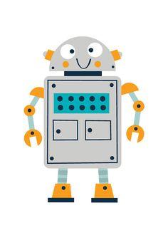 Childrens robot d'impression set impression jeu par BubbleGumYears                                                                                                                                                                                 Plus