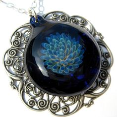 hand-blown glass pendant