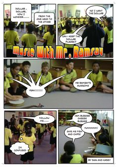 Room 11, Sunnybrae Normal School: Music Comic Life