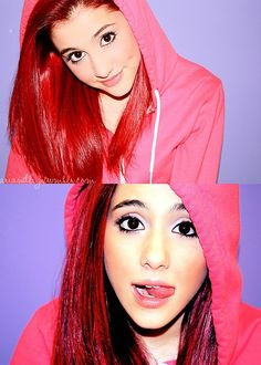 i ariana grande's hair! & she's cute as a button ^_^ Ariana Grande 2010, Ariana Grande Red Hair, Ariana Grande Pictures, Velvet Hair, Cat Valentine, Pop Fashion, Beautiful Actresses, Cute Hairstyles, My Idol