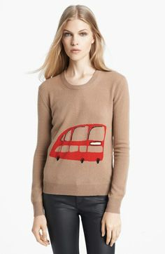 Anglophile sweater...Burberry Brit Wool & Cashmere Intarsia Sweater available at #Nordstrom