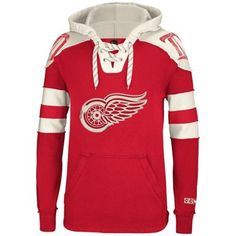 Mens Detroit Red Wings Reebok Red Pullover Hoodie - For my boyfriend. He has to wear this every time the Wings beat the Flames.